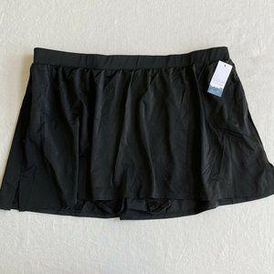 NEW Swim by CACIQUE Lane Bryant BLACK Swim Skirt